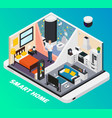 smart home isometric composition vector image vector image