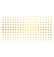 space star gold halftone grid vector image vector image