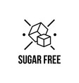 sugar free foods icon black and white designs can vector image vector image