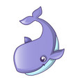 swimming whale icon cartoon style vector image