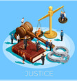 system of justice concept vector image vector image