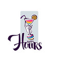 take your summer drink and enjoy our happy hour vector image vector image