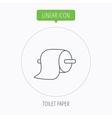 Toilet paper icon WC hygiene sign vector image vector image