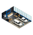 transport realistic isometric composition vector image vector image