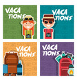 vacations set people equipment travel vector image