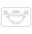 Vintage wedding invitation stamp vector image vector image