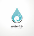 water supply logo design vector image vector image