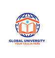 world university logo designs vector image vector image