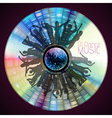 Disco abstract background Record or disk vector image