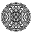 Curly flower coloring page vector image