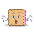 surprised biscuit cartoon character style vector image