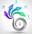 Modern business circle origami style vector image