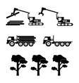 1336 logging machine logger loader vector image vector image