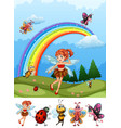 a fairy in nature vector image