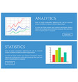 analytics and statistics card vector image vector image