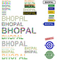 Bhopal text design set vector image vector image