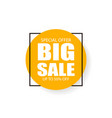 big sale inscription sign vector image vector image