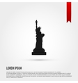 black silhouette statue liberty flat vector image