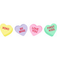 candy heart sayings sweethearts valentines day vector image vector image
