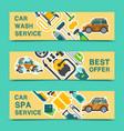 car wash banner water transport cleaner background vector image
