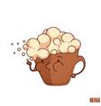 cartoon mug with cappuccino vector image vector image