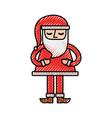 christmas santa claus standing character vector image
