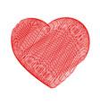 crayon valentine 8 vector image vector image