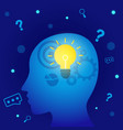 creative thinking or solution ideas banner vector image vector image