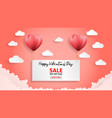 creative valentines day sale background with vector image vector image