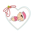 cute baby sleeping card vector image