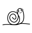 cute snail icon vector image vector image
