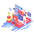 data protection isometric vector image