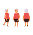 elderly woman set vector image