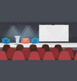 empty nobody conference hall with furniture modern vector image vector image