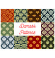 floral patterns of seamless damask flower tracery vector image vector image
