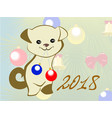 funny puppy for the new year holiday card eps10 vector image