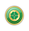 golden and green saint patrick39s day irish badge vector image