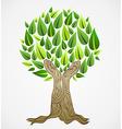 Green concept tree vector image vector image