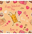 happy valentines cat vector image vector image