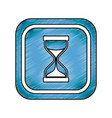 hourglass antique instrument vector image vector image