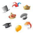 Icons for hats vector image vector image