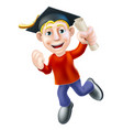 jumping graduate and qualification vector image vector image