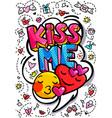 kiss me word bubble vector image vector image