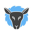 lamb face vector image vector image
