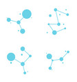 molecule logo template vector image