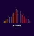 music wave in form of vector image vector image