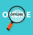 online offline concept business analysis vector image vector image