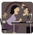 Online scam vector image vector image