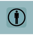 Pale blue man sign vector image