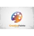 palette Icon color palette symbol art logo vector image vector image
